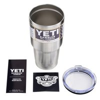 Wholesale Hot Yeti Cups Stainless Steel oz Cups Cooler Rambler Tumbler Cup Vehicle Beer Mug Double Wall Bilayer Vacuum Insulated many colors