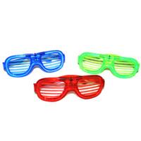 Wholesale 10 off Christmas LED Light Glasses Flashing Shutters Shape Glasses LED Flash Glasses Sunglasses Dances Party Supplies Festival Decorat