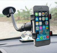 abs car sales - hot sale cell phone mounts holder dual clip soft tube dashboard abs sucker car universal gps mobile phone holder