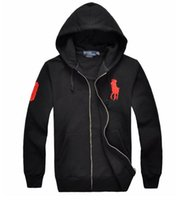 Wholesale Winter new men s hooded plain color sweater fashion embroidery loose large size British youth jacket