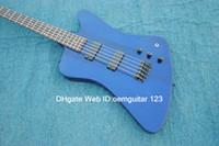 Custom Shop Blue Thunderbird 5 cuerdas Bajo Eléctrico Bajo Nuevo Guitarras Bajas OEM Barato