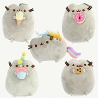 23cm Kawaii Brinquedos Nouveau Pusheen Cat Cookie Ice Cream 5 Style Peluches Stuffed Animaux Chat Jouets Girl Gift D225