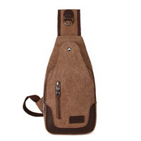 Wholesale New Men Canvas Carry On Small Chest Bag Sling Pack Unbalanced Backpack Single Shoulder Bag for Student Cross Body Male Bag