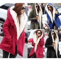 Manteau de fourrure de fourrure de fourrure de la mode d'automne d'hiver des femmes