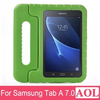 Wholesale DHL free Kid s Light Weight EVA Drop Proof Shockproof Protective Case For Samsung Galaxy Tab A T280 T285 with Handles