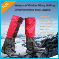 Wholesale 2017 Pair Waterproof Outdoor Hiking Walking Climbing Hunting Snow Legging Gaiters adult Gaiters children Gaiters travel kits