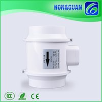 Wholesale Hot Selling HON GUAN V HZ HF S Low Profile Inch mm Hydroponics Extractor Inline Fans for Air Conditioning