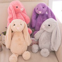 Wholesale EMS New Kids Toys Creative Dolls Bunny Soft Plush toys cm Rabbit toy Cute Long Ears bunny Easter Christmas valentine s day Gift