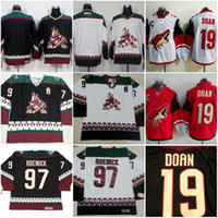 Wholesale Men s New Arizona Coyotes Blank Shane Doan Jeremy Roenick Jersey White Red Black CCM Classic Throwback Ice Hockey Jerseys