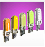 Wholesale 100PCS T10 W5W Silicone Case Chips COB LED Car Wedge Interior Light Auto Parking Bulbs Turn Side Lamps V