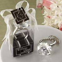 Eco-Friendly,Stocked bamboo napkin holder - Fashion Faux Diamond Crystal Napkin Ring Key Chain Wedding Party Dinner Table Paper Towel Napkin Ring Holder White