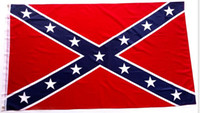 Wholesale Confederate Battle Flags Printed Confederate Rebel Civil War Flag National Polyester Flags X3FT D by DHL