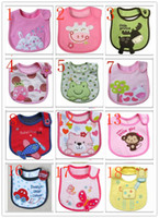 Wholesale Exempt postage children cotton bib baby bib baby bib children cartoon three layers of cotton waterproof saliva towel