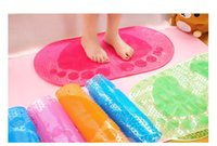 Wholesale 2017 hot style tasteless environmental protection plastic PVC shower bath mat large bathroom MATS with sucker cylinder that defend bath mat