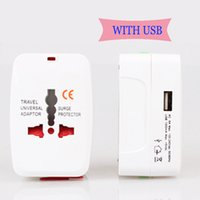 Wholesale Universal Travel Power Adapter Socket AU US UK To EU AC Multifunctional Electrical Conversion Plug Converter V A With USB