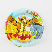 Wholesale quot Winnie the Pooh Paper Plate New Hot Birthday Party Decoration Kids Freezing Event Party Supplies