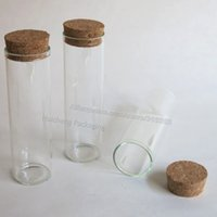 30100 bean container - 10pcs ml Glass Tube with Cork Cork Stoppered Glass Container Used for Display Jewelry Beans