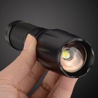 Wholesale UltraFire E17 Lumen AAA Flashlight Led CREE T6 XM L Camping Torch Flash Light Zoomable CREE Waterproof LED Flashlights