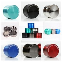Wholesale 4 Part mm Smoking Grinders Herb Grinder Tobacco Grinder Amsterdam Metal Grinder CNC Grinde Multi Colors Grinders C