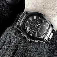Wholesale Hot AR1410 ar1400 ar1411 ar1413 Ceramic Dress Mens Watch Chrono Watches Black Rose gold Quartz Casual Watches Original Box