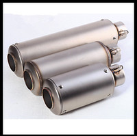 Wholesale Universal Motorcycle exhaust Modified Scooter Akrapovic Exhaust Muffle Fit for most motorcycle z800 z1000 gsr750 BN600 CBR1000