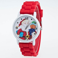 battery santa claus - Kids Children Watches Cartoon Santa Claus Cute Silicone Christmas Watch For Boys Girls Students Wristwatch Sport Quartz Watch