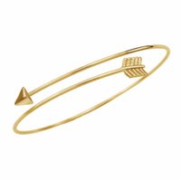 Wholesale NEW Gothic Punk Women Ladies Gold Arrow Bangle Cuff Bracelets Jewelry Womens Open Adjustable Arrow Bracelets Bangles