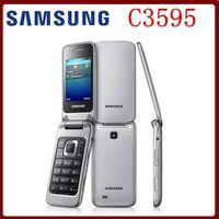 big black buttons - Samsung C3595 Unlocked G WCDMA Black Big Buttons Stylish Flip Mobile Phone Refurbished phone High quality Only English langauge