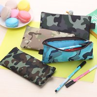 Wholesale Hot Sale Boys and Girls Camouflage Pencil Case Canvas Pencil Bag School Supplies Cosmetic Makeup Bag Zipper Pouch Purse
