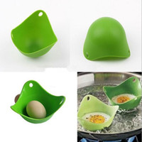 Wholesale Eco friendly silicone egg Boiler egg poacher tool non toxic no stick Soft Safe Poach Pod peach pod egg boiler Chilren bow