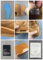 basket boxes - New Air retro IV yellow leather mens basketball Shoes s retro Basket footwear retros sports athletic sneakers Original Box