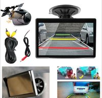 Wholesale 5 Inch TFT LCD Car Rear View Camera Monitor and Wide angel Auto Rearview Backup