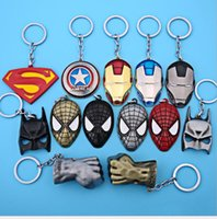 Wholesale Hot sale cartoon hero iron man caption Keychain DIY Intelligence Key Chain Ring Boys Girls Birthday Key Dolls Gifts Key Holder pendant