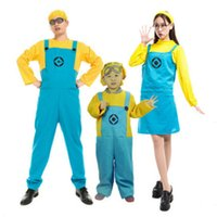 Cheap 2016 children men women Minions Costume Halloween Anime Mini Despicable Me Cosplay Costumes Suits Boys Girls Kids Party Clothes