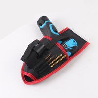Wholesale Tool Bag Portable Cordless Drill Holder Holst Tool Pouch For V Drill Cordless Screwdriver Waist Tool Bag Power Tool Bag