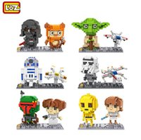 achat en gros de l'action de guerre-LOZ Star Wars Series Skywalker Yuri Modèle de construction Diamond Blocks Bricks Set R2D2 Action Figure Jouets compatibles Legoe 9528-9533