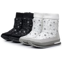 Revisiones Botas para la nieve pato mujeres-Venta al por mayor-Mujer botas de invierno nuevo diseño de pato de goma de nieve impermeable botas de jogging mujeres zapatos multicolores S4786
