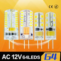 Wholesale LED lamp G4 Led bulb LEDs SMD3014 warm white cool white AC DC12V W W W Spotlight Corn lights