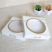 Wholesale Round transparent window pastry package box Simple food grade kraft paper cases Pizza baking packaging boxes
