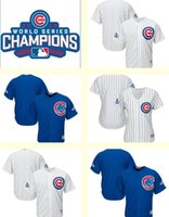 baseball teams logo - Men s Women Kids Chicago Cubs Blank White Blue World Series Champions Team Logo Patch Player Baseball jerseys