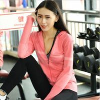 Wholesale Autumn Winter New Outdoor Sports Gym Yoga Clothing Women Long Sleeve Night Running Reflective Jacket Quick Drying Hoodies