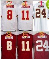 Wholesale 2016 NIK Elite Football Stitched Redskins Cousins DeSean Jackson Josh Norman Red White Jerseys