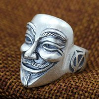 beautiful strange - In the beautiful silver Matt Zuyin process V for Vendetta and strange Unisex ring opening hand
