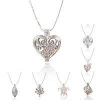 Perle collier pendentif Prix-Fashion Necklace 18kgp amour souhaitent perles / pierres précieuses perles médaillons, belle bricolage charme pendentif collier mélange de style