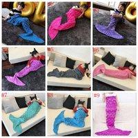 bags fish scale - Kids Mermaid Tail Blanket cm Fish Scale Sofa Blanket Adult Super Soft Warm Hand Crocheted Knitting Wrap Sleeping Bag OOA996