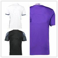 Wholesale 2017 Thailand Quality Real madrid Running Jerseys New Font RONALDO white Purple Third Black RAMOS