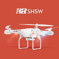 Wholesale Newest SH5 SH5W Wifi FPV Quadcopter RC Drone with HD Camera D Headless mode4CH axis Gyro RC Quadcopter RTF VS syma X5SW X5C