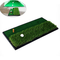 Wholesale Golf Practice Mat cm Dual Level Grass Hitting Training Mat Practice Rubber Tee Holder Golf Training Accessories MD0170