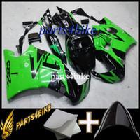 Negro verde ABS Carenado para CBR600F2 91 92 93 94 Kit de carrocería Carenado para Honda CBR600 CBR 600 F2 1991 1992 1993 1994 Mercado de accesorios