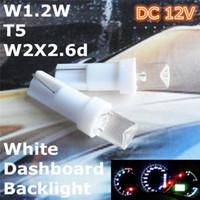 achat en gros de feux de rechange-T5 DC 12V Ampoules de couleur blanche Pièces Auto Pièces de rechange Ampoules Lampes Éclairage (5mm Flood LED) pour Dashboard Center Console Backlight